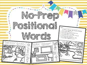 No  Prep Positional Words