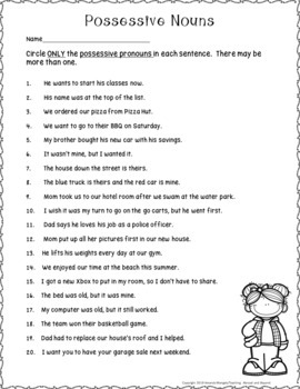 No-Prep - Possessive Pronouns