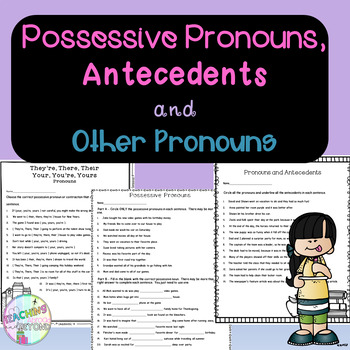 No-Prep - Possessive Pronouns, Antecedents and More