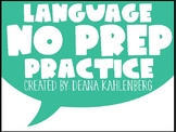 Language Concepts {No Prep Practice}