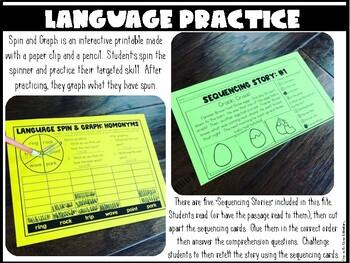 Language Concepts {No Prep Practice}