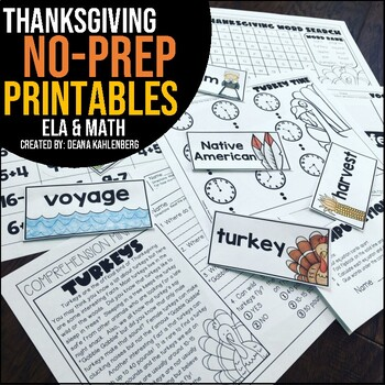 Thanksgiving {No Prep Practice}