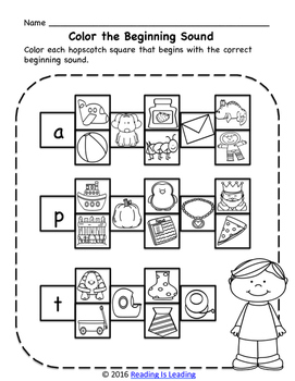 No Prep! Pre-Literacy, Phonemic Awareness Pack