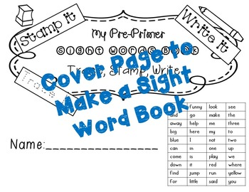 No Prep Pre-Primer Sight Words Stamping and Activities