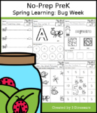 No-Prep PreK Spring Learning: Bug Week - Distance Learning