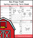 No-Prep PreK Spring Learning: Farm Week - Distance Learning