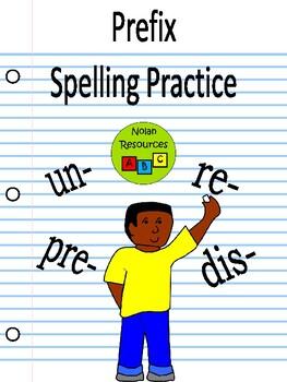 No Prep - Prefix Spelling Practice