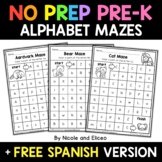 No Prep Preschool Alphabet Mazes - Distance Learning