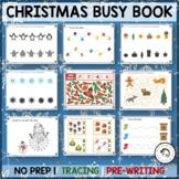 No Prep Preschool Christmas & Winter Holidays Tracing Pre-