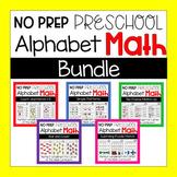 No Prep Preschool and Kindergarten Alphabet Themed Math Wo