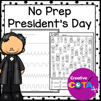 No Prep Presidents' Day Differentiated Printables