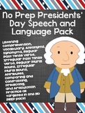 No Prep Presidents' Day Speech and Language Pack