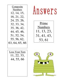 No Prep Prime and Composite Game - Fourth Grade Math - 4.OA.4