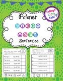 No Prep Primer Sight Words Comprehension Sentences With Cut and Paste CVC Pics