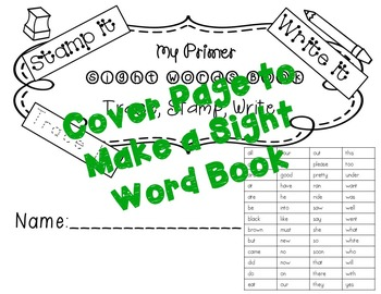 No Prep Primer Sight Words Stamping and Activities