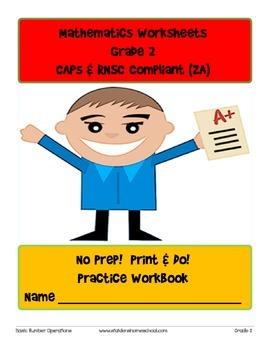 No Prep! Print & Do! Grade 2 Math Practice Workbook CAPs Compatible