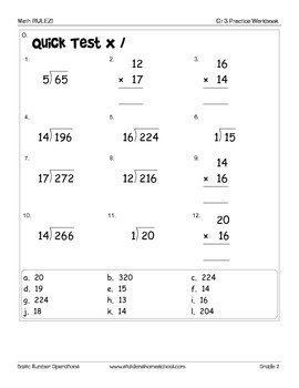 No Prep! Print & Do! Grade 3 Math Practice Workbook CAPs Compatible