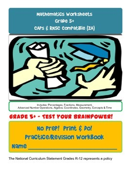 No Prep! Print & Do! Grade 5+ Advanced Math Practice Workbook-CAPs Compatible