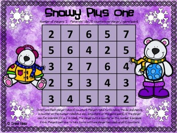 ❄️No Prep Print & Play Packs ~ Snow Themed Math Games For Winter ~