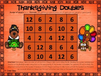 No Prep Print & Play Packs ~ Thanksgiving Themed Math Games For November ~