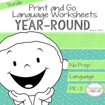 No Prep Print and Go Language BUNDLE