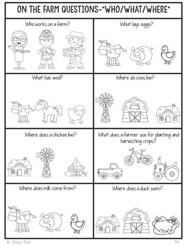 No Prep Print and Go Language Worksheets: On the Farm