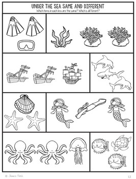 No Prep Print and Go Language Worksheets: Under the Sea