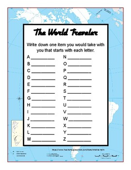 """No Prep Print and Present Divergent Naming """"The World Travel"""""""