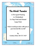 "No Prep Print and Present Divergent Naming ""The World Travel"""