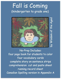 Printable Book -  Rhyming Story - Fall - No prep