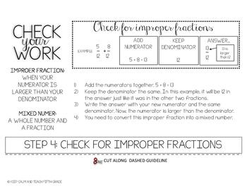 No Prep Printable Flip Book - Adding Fractions with Unlike Denominators