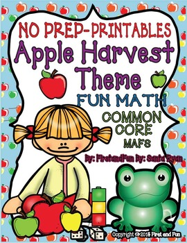 No Prep Autumn Math Apple Harvest Theme Common Core MAFS PACKET