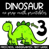 No Prep Printables Dinosaur Themed Math for Unit Study