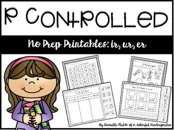 No Prep Printables~R Controlled Vowels: IR, ER, UR