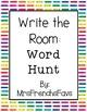 No Prep Printables! Word Hunt- Write the Room Phonics Activity