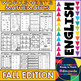 No Prep Printables in English - Fall Edition - Maths and L