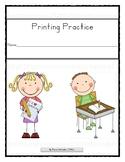 No Prep Printing Practice ZB Manuscript with Sentence Practice!