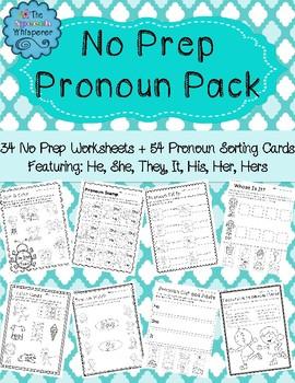 No Prep Pronoun Pack