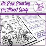 No Prep Puzzles For Mixed Speech and Language Groups