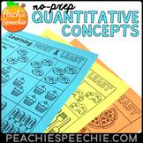 No Prep Quantitative Concepts: More, Less, Most, Least