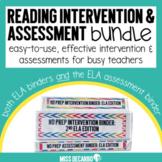 No Prep Reading Intervention and Assessment Binder Bundle