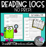 No Prep (Weekly) Reading Logs With Response Questions