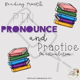 No-Prep Reading Month Pin, Pronounce, and Practice for Articulation