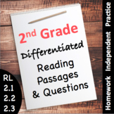 2nd Grade Reading Passages with Comprehension Questions - Differentiated