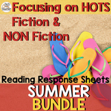 Reading Response Sheets Bundle (HOTS): Summer Edition NO PREP