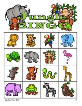 Ready-to-Go, (No Prep) Speech & Language Jungle Pack