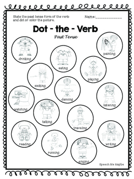 No Prep: Regular and Irregular Verb Worksheets
