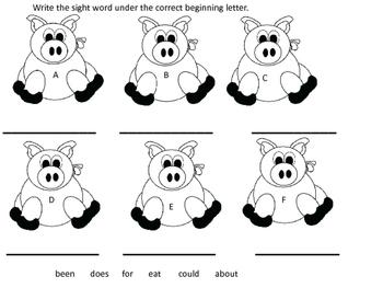 No Prep Resource for Pigs by Robert Munsch