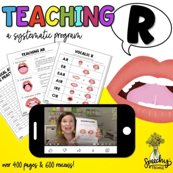 Teaching R Articulation - R Speech Therapy for R Sound - Vocalic R & All Others!