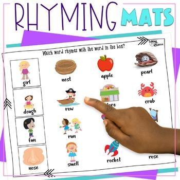 No Prep Rhyming Words Mats & Worksheets